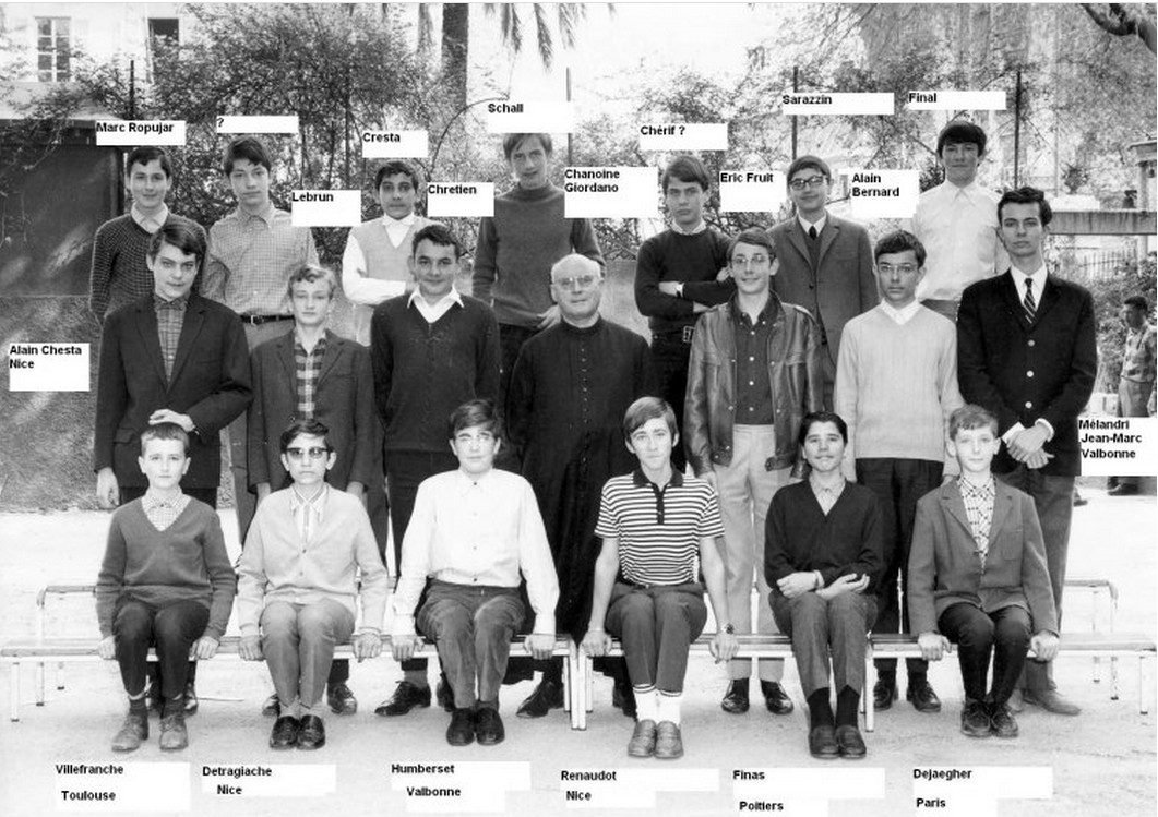 1967 - Classe de troisième - Lycée Sasserno